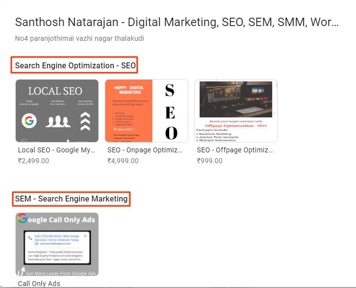 google my business collections santhosh natarajan