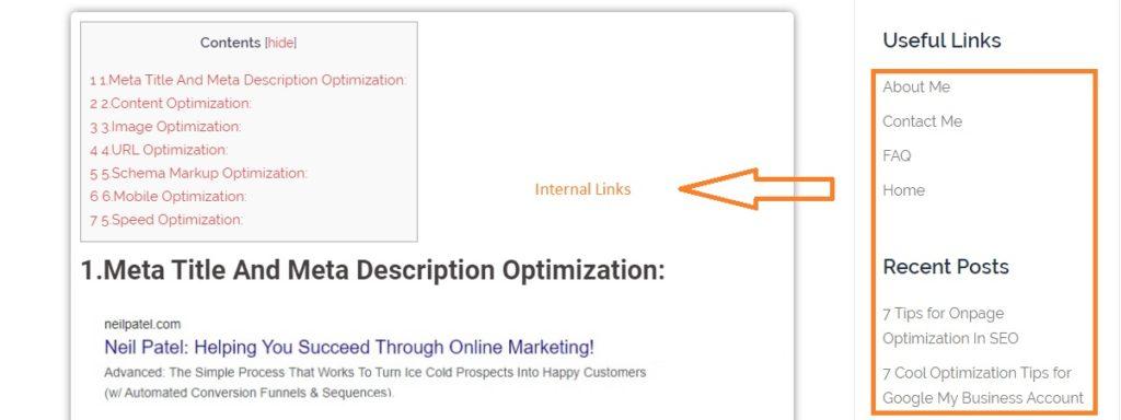 internal link optimization santhosh natarajan