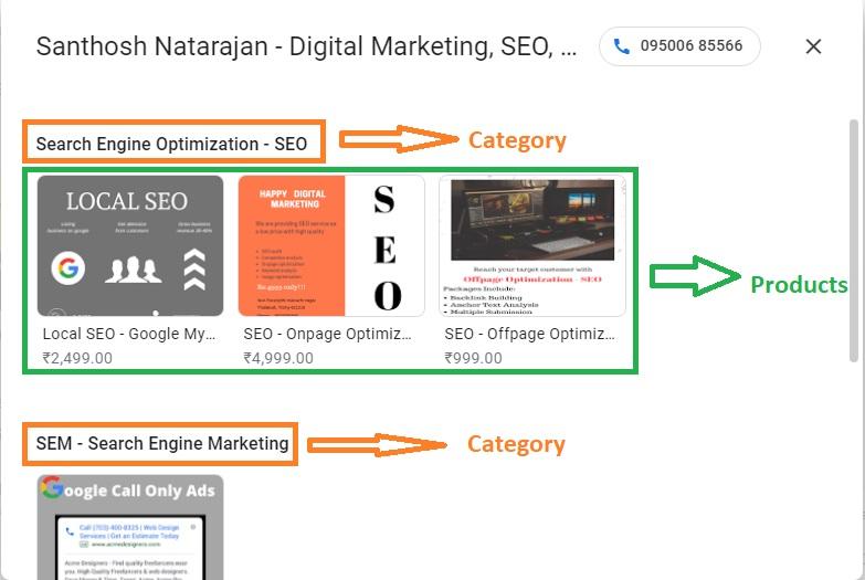 google my business product trichy santhosh natarajan