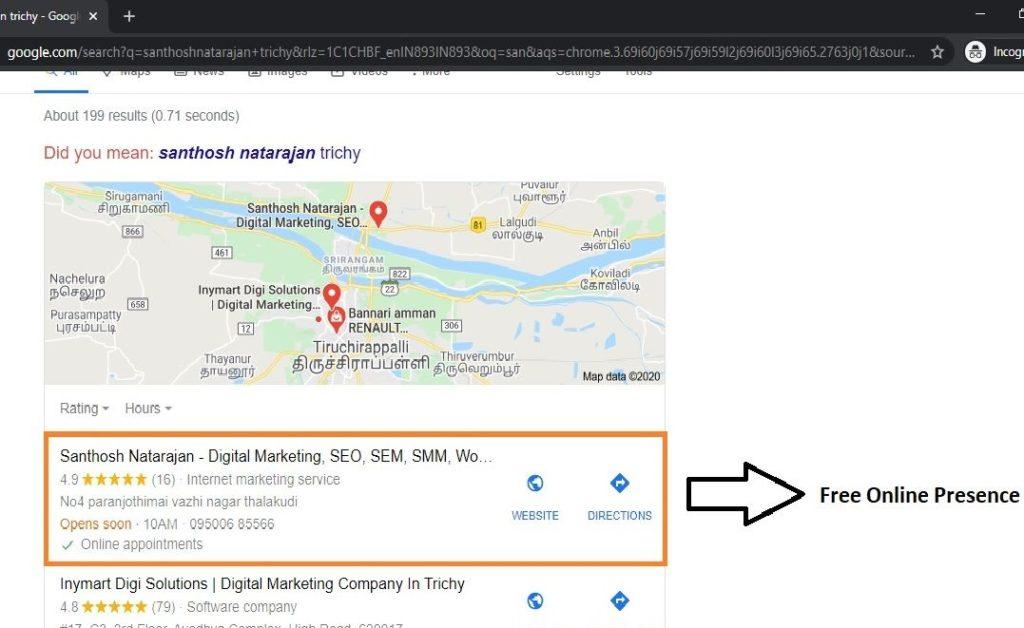 google my business trichy santhosh natarajan