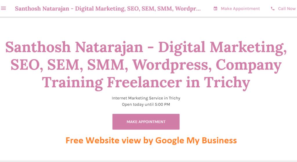 google my business website trichy santhosh natarajan