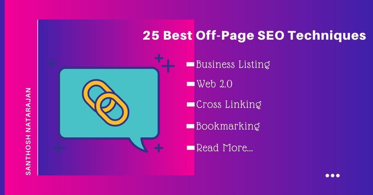25 best off page seo techniques methods linkbuilding