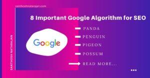 8 Important Google Algorithm for SEO panda